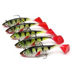 * Limited Quantity * These fish scented, weighted softbaits have deadly lifelike swimming action from their flexible t-tails. Vary the action and depth by your retrieval speed to dial in on what the f