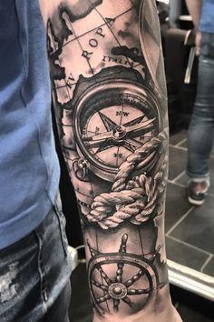 🌍World Map 🗺 - tattoos sleeve Forarm Tattoos, Cool Arm Tattoos, Forearm Sleeve Tattoos, Best Sleeve Tattoos, Tattoo Sleeve Designs, Arm Tattoos For Guys, Tattoo Designs Men, Ship Tattoos, Arrow Tattoos