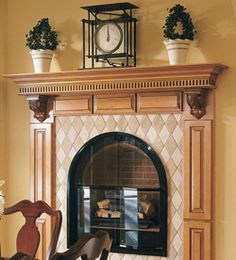 Molding and Accent Details - Furniture Mantle -