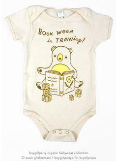 bookworm onesie baby bodysuit