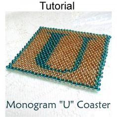 Beaded Letter U Coaster PDF Beading Pattern