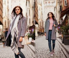 Get this look: http://lb.nu/look/8553129  More looks by Viktoriya Sener: http://lb.nu/viktoriyasener  Items in this look:  Poppy Lovers Coat, Sheinside Scarf, Sheinside Sweater   #casual #sporty #street