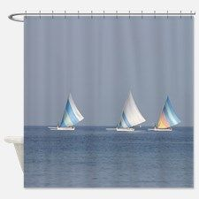 sailboat shower curtain for
