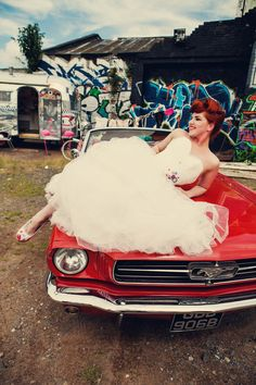 A Trailer Trash Bridal Shoot with a Vintage Airstream