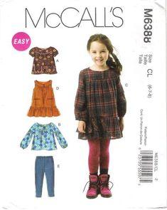 14ef488bdee4a McCall s 6388 Children s Girls  Tops