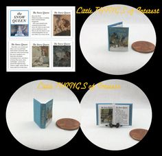 The SNOW QUEEN Miniature Book Dollhouse by LittleTHINGSinterest