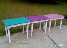 Simple Desk Tutorial - so cute for the kids room!
