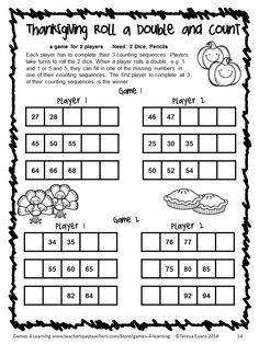 NO PREP Thanksgiving Math Games for Second Grade with Turkeys, Pumpkins and Teaching Second Grade, Second Grade Teacher, 3rd Grade Math, Math Class, Fun Math, Math Games, Math Activities, Maths, Thanksgiving Math