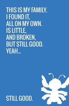 Ohana means family. A minimalist poster based on the movie Lilo & Stitch