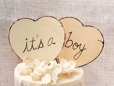 Its a Boy its a Girl Cake Toppers/baby shower cake topper/baby girl/baby boy/gender reveal party/