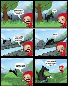 Cappuccetto Rosso e il lupo.. :)