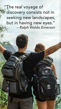 """""""The real voyage of discover consists not in seeking new landscapes, but in having new eyes."""" --Ralph Waldo Emerson"""