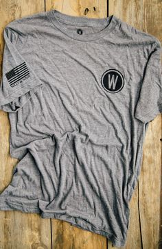 Clean and simple. Show your love for everything American Made.  Grab this Willy + Wade logo tee.