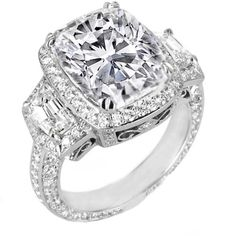 Cushion Diamond Vintage Design Halo Engagement Ring Cadillac trapezoids side stones
