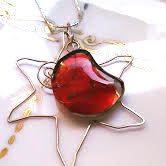 Luna rossa e sole argento argento 925 collana di LaTerraCanta