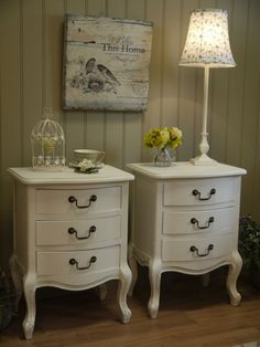 Nice Shabby Chic French Country Style Bedside Table
