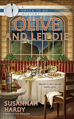 "Olive and Let Die (A Greek to Me Mystery) by Susannah Hardy <a href=""http://www.amazon.com/dp/0425271668/ref=cm_sw_r_pi_dp_Qxjjvb1NBKZYG"" rel=""nofollow"" target=""_blank"">www.amazon.com/...</a>"