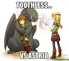 Toothless... VS Astrid - ENDLESS BATTLE | Make a Meme