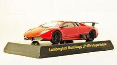Original Kyosho 1/64 Lamborghini Murcielago LP 670-4 SuperVeloce (Red) (japan import) Mini Diecast Sport Car Figure