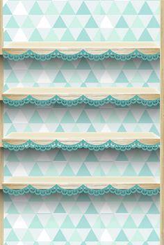 iPhone wallpaper -- shelf