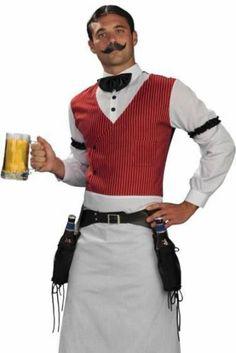 Wild West Saloon Bartender Adult Mens Western Costume