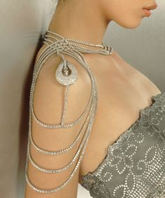 Diamond Body Ornament by Reena Ahluwalia. 196.56 carats diamonds, 18K white gold. Winner of the De Beers Diamonds-International Award. Alexander McQueen featured this jewel in his Spring/Summer 2000 debut in New York.