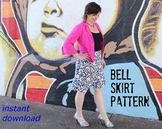 Flattering Womens Skirt Pattern fits misses sizes by StudioCherie
