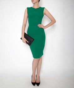 Roland Mouret Emerald Sesia Wool-Crepe Dress | Dresses | Liberty.co.uk - January 2015 £500 from £1250