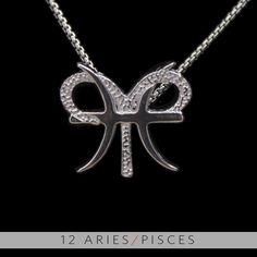 12 Aries and Pisces Silver Unity Pendant. $99.99, via Etsy.