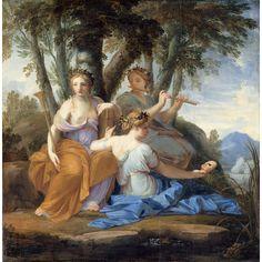 Clio, Euterpe et Thalie, 1652-1655, Eustache Le Sueur, Musée du Louvre