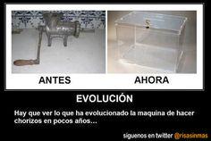 Evolución de la máquina de hacer chorizos...