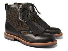 Wooyoungmi X Alfred Sargent Harris Tweed Boots