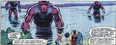 Uncanny X-Men #151 - Classic shot of the Sentinels rising from a lake.