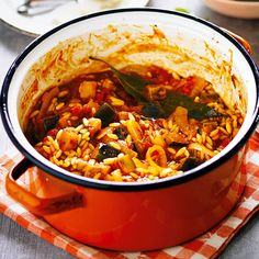 This delicious one-pot dish is perfect for a cosy night in. The silky aubergine is paired with tasty orzo pasta to create a warm, hearty dish that is packed full of flavour and texture. | Tesco