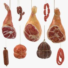 model: This is a collection of 6 Hanging Sausages and 3 Hanging Hams. Each asset is a high end, photorealistic model, that is created to help you add the realism to your project.Each model is . Miniature Crafts, Miniature Food, Mini Christmas Ornaments, Medieval Life, Victorian Dolls, Clay Food, Mini Things, Arte Popular, Fimo Clay