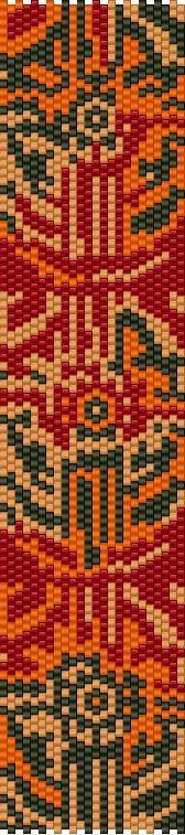 Afro inspired peyote pattern