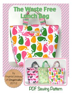 The Waste Free Lunch Bag PDF Sewing Pattern