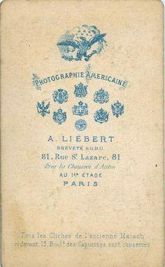 Liébert A. (1) Photographie Américaine - Paris (ebay)