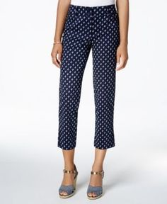 Charter Club Corded Capri Pants, Only at Macy's - Blue 14
