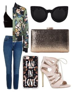 """Street Style"" by maeaballroomprincess ❤ liked on Polyvore featuring Topshop, T By Alexander Wang, Casetify, Dsquared2, Carvela and Delalle"