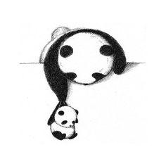 Cute Drawings Tumblr, Cute Cartoon Drawings, Art Drawings Sketches Simple, Animal Sketches, Animal Drawings, Panda Wallpapers, Cute Cartoon Wallpapers, Panda Kawaii, Cute Panda Drawing