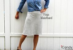yoga waistband skirt (tutorial and pattern) Everyday Basics 1: The Everyday Skirt