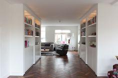 kasten inbouw woonkamer Shelves, Modern, House, Bookcases, Closets, Design, Dutch, Cabinets, Home Decor