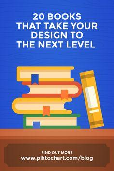 20 Books That Take Your Design to the Next Level via @piktochart