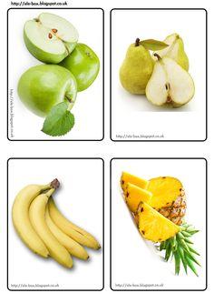 Manzanas, peras, plátanos y piña