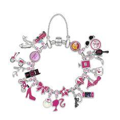 #poramaisb - Provoque com rosa shocking: Barbie inspira berloques girls da joalheria Monte Carlos. E tem charms em prata pura para todas as idades. Vai que você se apaixona por um sapato lady