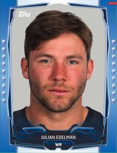 TOPPS-HUDDLE-BLUE-BOOST-JULIAN-EDELMAN-NEW-ENGLAND-PATRIOTS-ONLY-150-EXIST