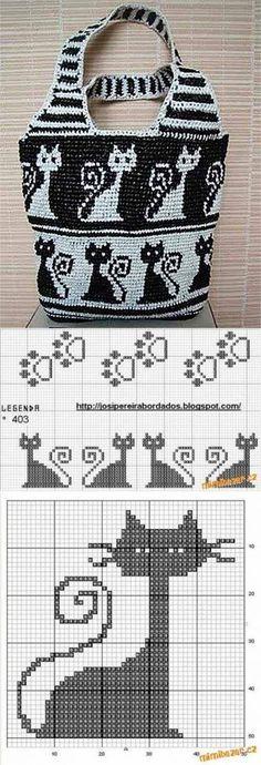 La bolsa con los gatitos de los paquetes de polietileno | Iskusnitsa