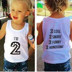 IM 2 Birthday Baby Tank Top Graphic Tee Themed Second Outfits Outf