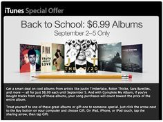 Apple Back To School Program Offers $7-8 Popular Albums By Adnan Farooqui on 09/02/2013